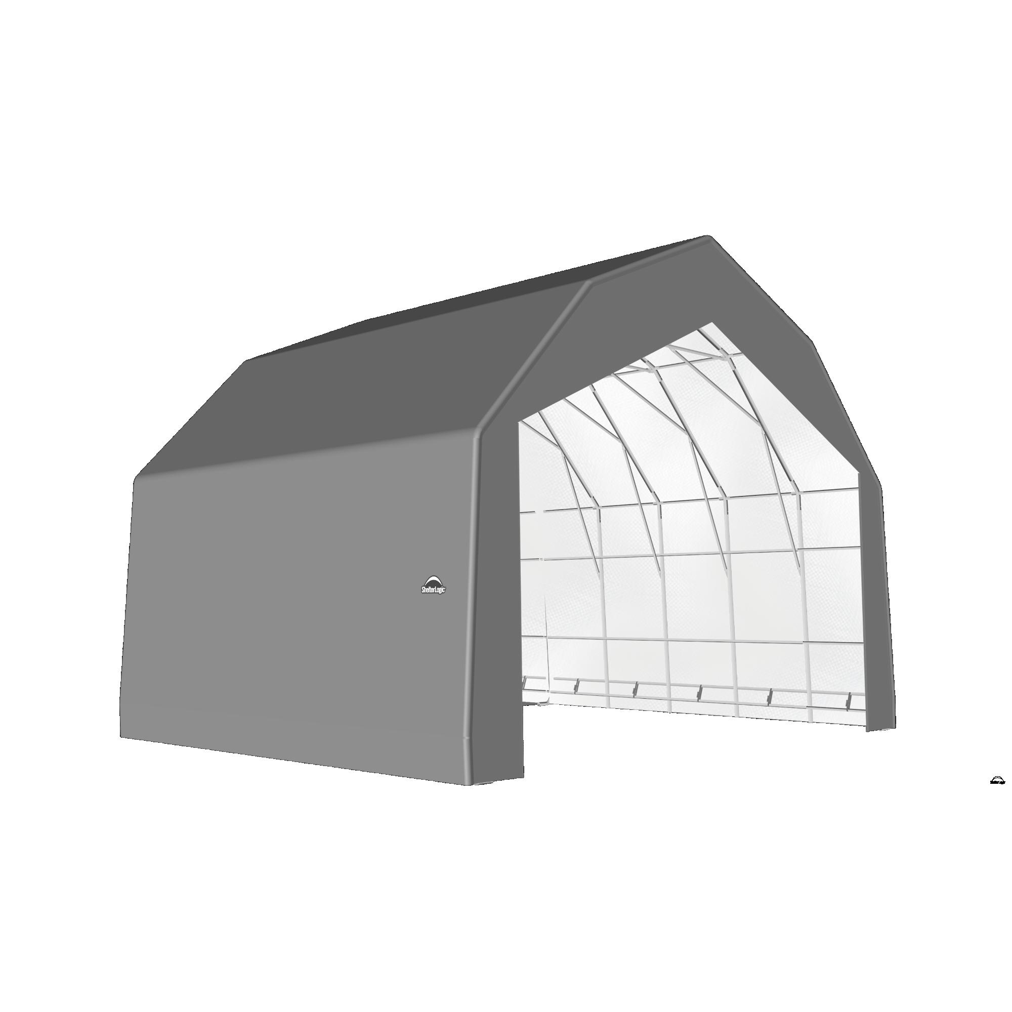 SP Barn 30X24X21 Gray 14 oz PE Shelter