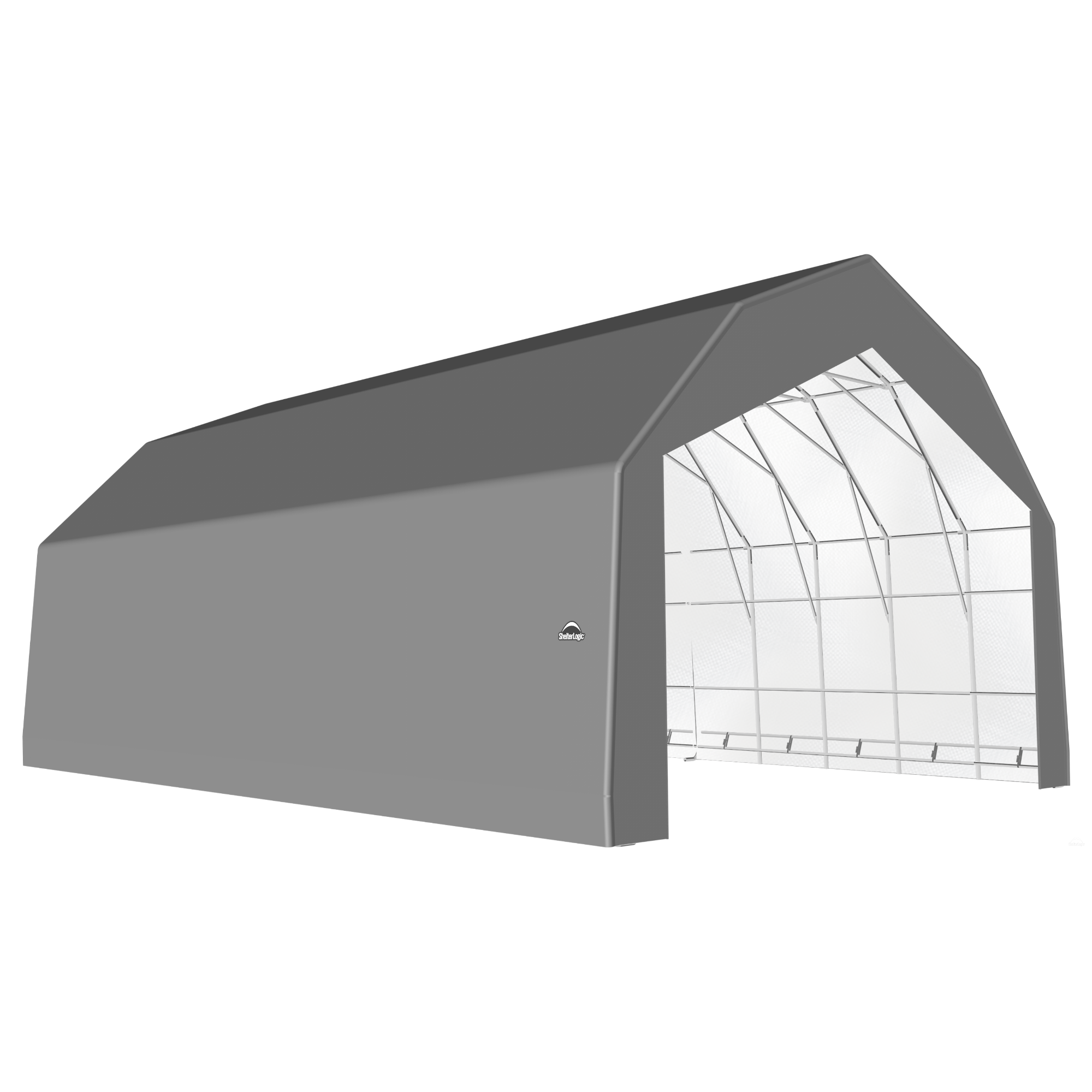 SP Barn 30X48X21 Gray 14 oz PE Shelter
