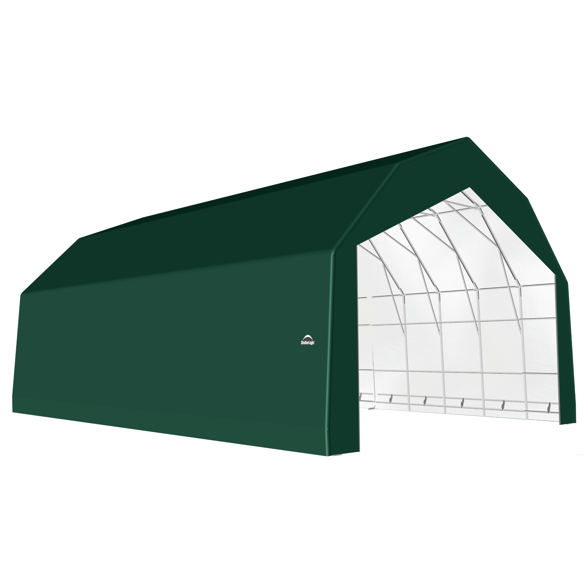 SP Barn 30X32X21 Green 14 oz PE Shelter