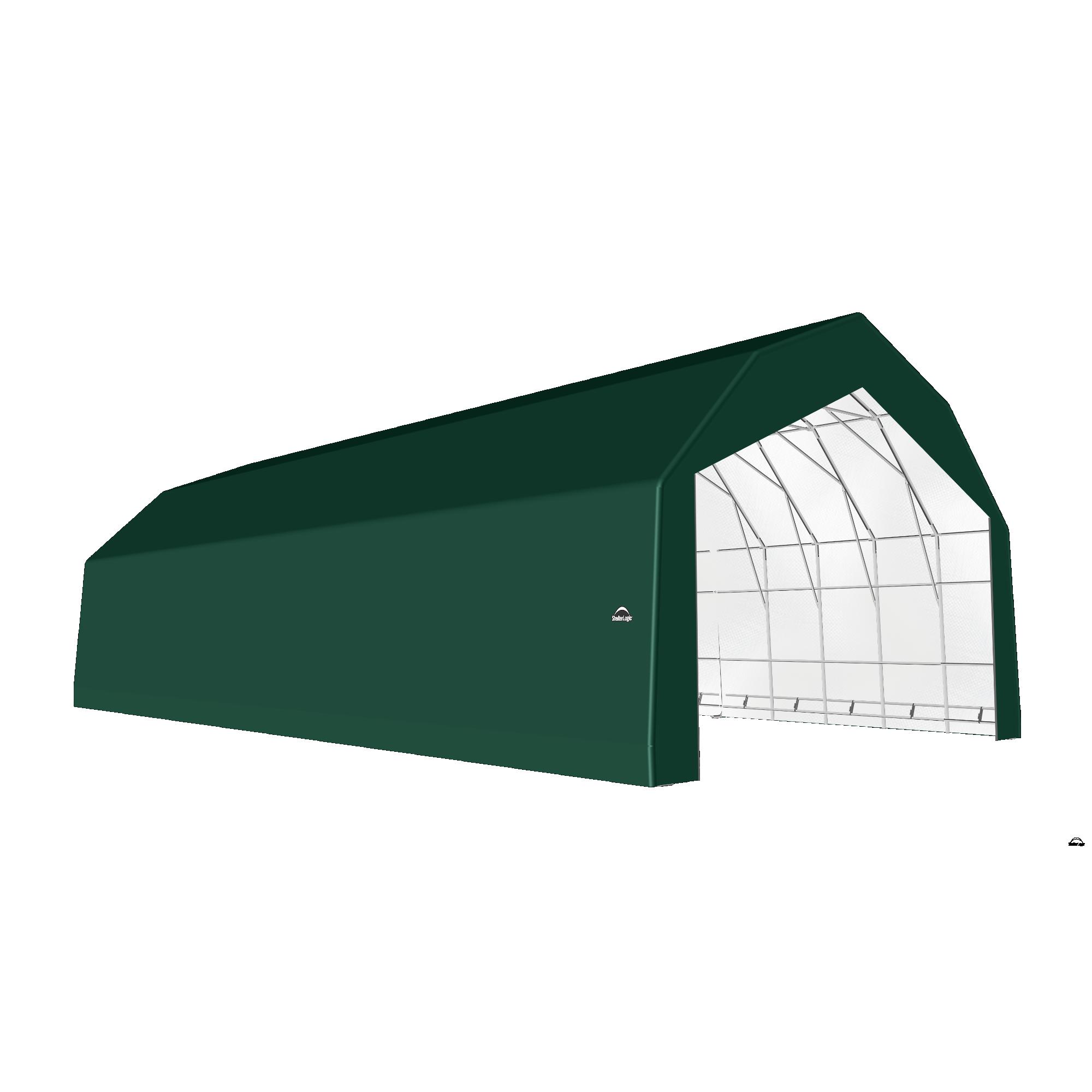 SP Barn 30X56X21 Green 14 oz PE Shelter