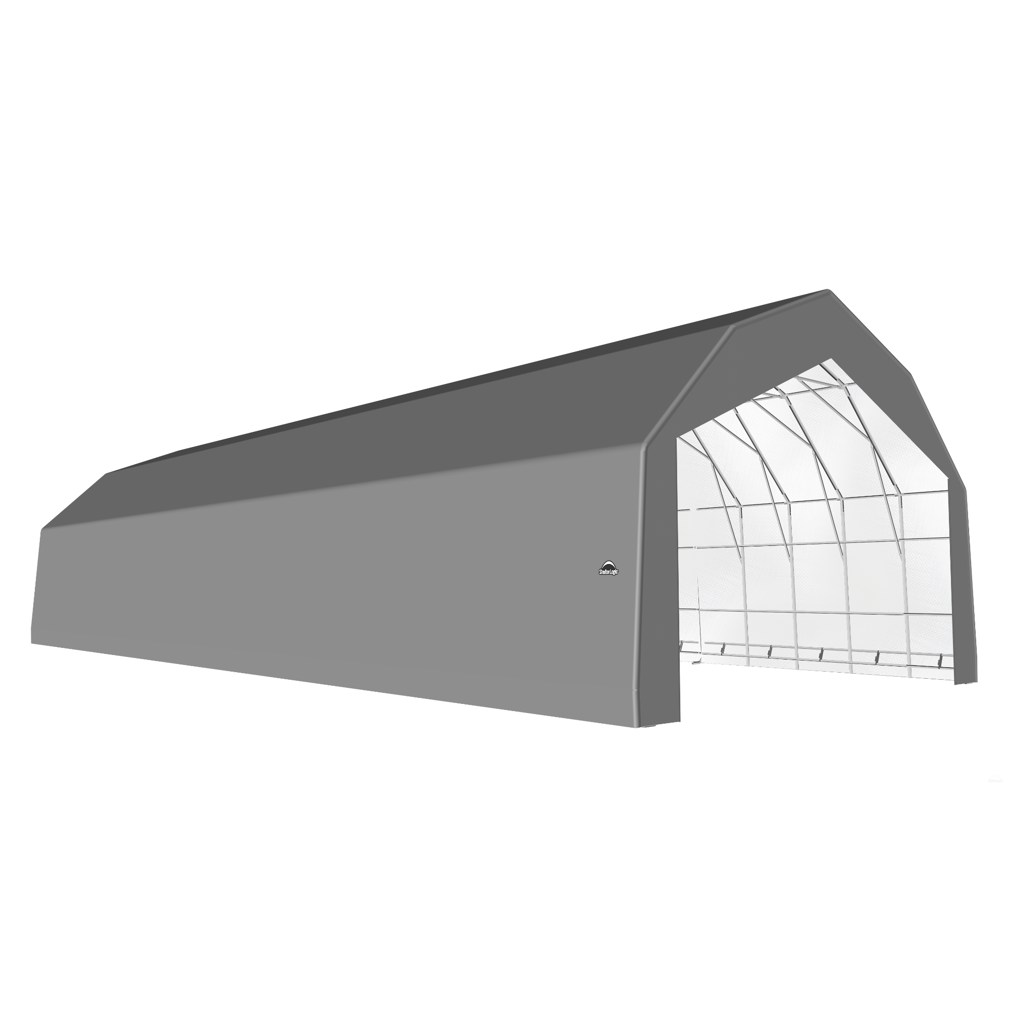 SP Barn 30X80X21 Gray 14 oz PE Shelter
