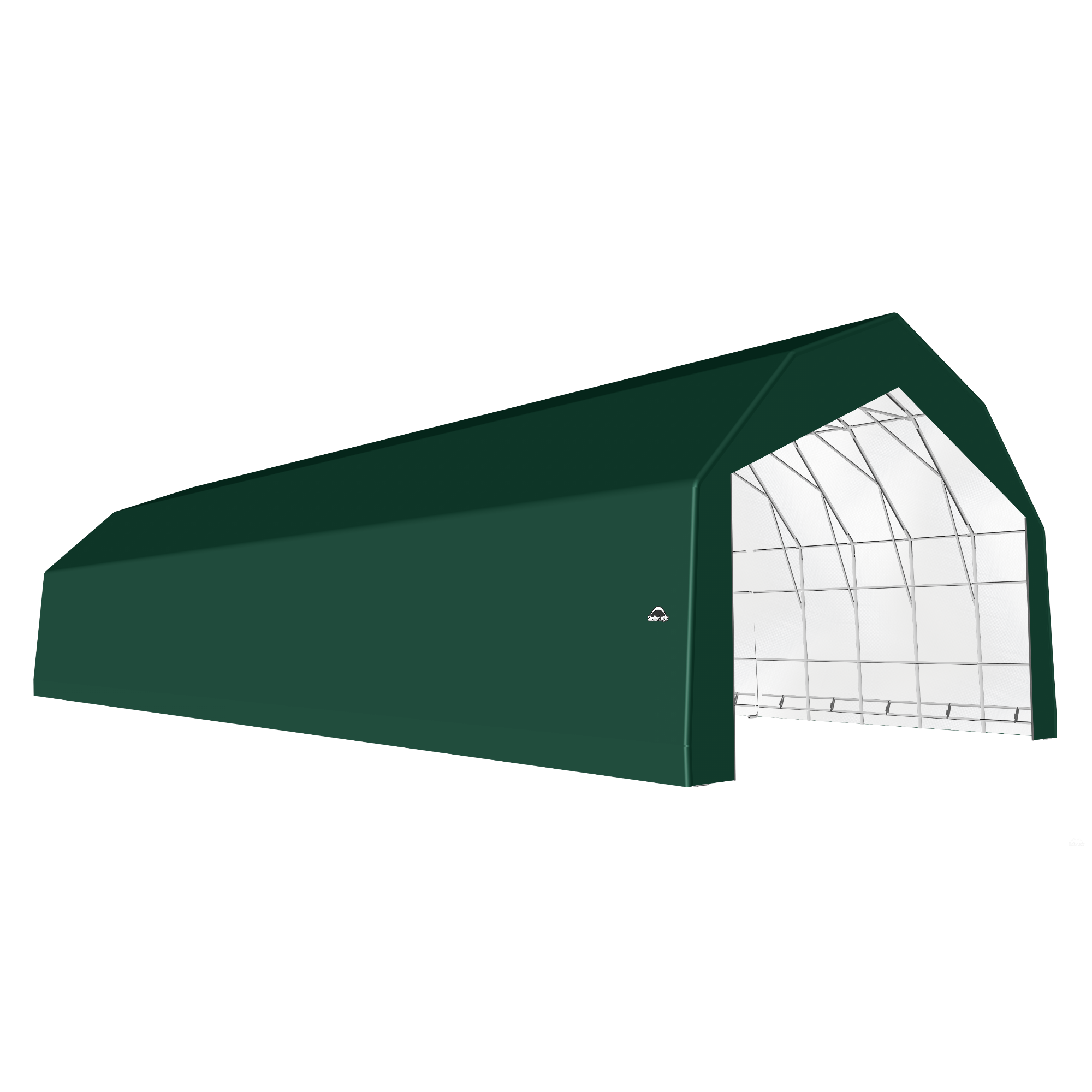 SP Barn 30X72X21 Green 14 oz PE Shelter