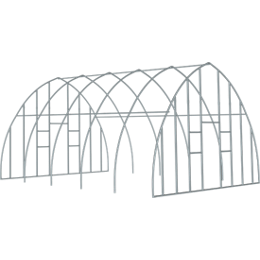 ShelterTech High Tunnel Greenhouse Frame and End Panel Frame