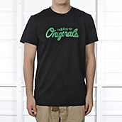 Mens Black Scripted Tee