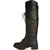 Women's Commander Knee-High Combat Boot