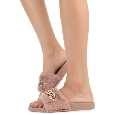 Women's Flatter-16S Fur Slide