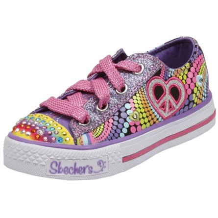 Skechers Lights- Shuffles - Heart Sparks(Toddler/Youth)