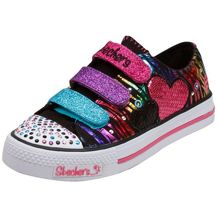 Skechers Lights- Shuffles - Triple Time (Toddler/Youth)