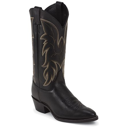 Justin Boots Western Royal Black Cowhide