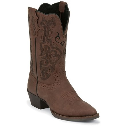 Justin Boots Western Dark Brown Mustang Cow