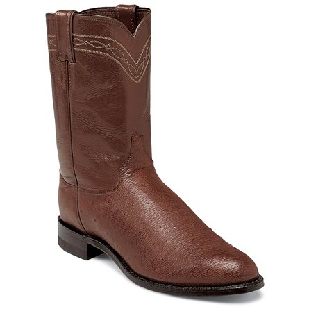 Justin Boots Exotics Antique Brown Smooth Ostrich