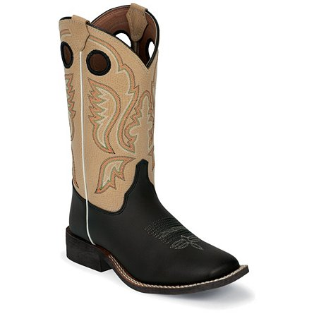 Justin Boots Western Black Burnished
