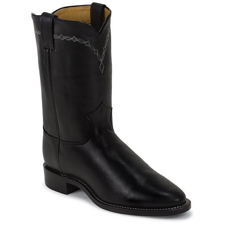 Justin Boots Ropers Royal Black Cowhide