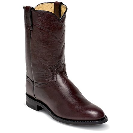 Justin Boots Ropers Black Cherry Corona