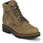"Justin Original Work Rugged Tan Gaucho Steel Toe 6"" - 435"