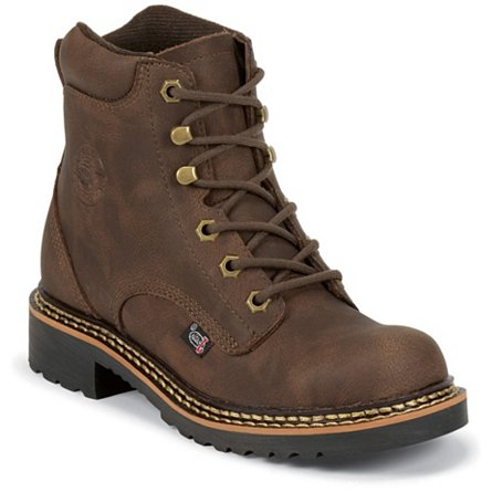 Justin Boots Workboots Rugged Bay Gaucho Cow