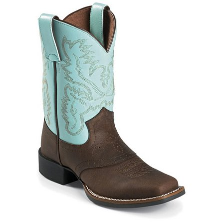 Justin Boots Western Bay Crazy Horse W/Saddle
