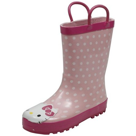 Western Chief Hello Kitty Polka Dot Cutie Rainboot (Toddler/Youth)