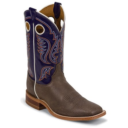 Justin Boots Bent Rail™ Chocolate Bisonte Cow