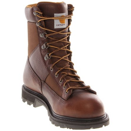 "Carhartt 8"" Low Heel Waterproof Logger Safety Toe"