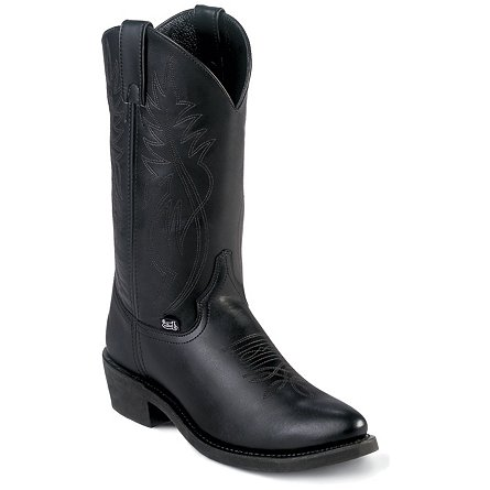 Justin Boots Farm & Ranch Black Cow