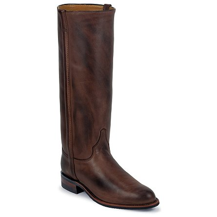 Justin Boots Ropers Chocolate Deertan
