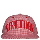Supra Gingham Snap Cap - S61071-RED