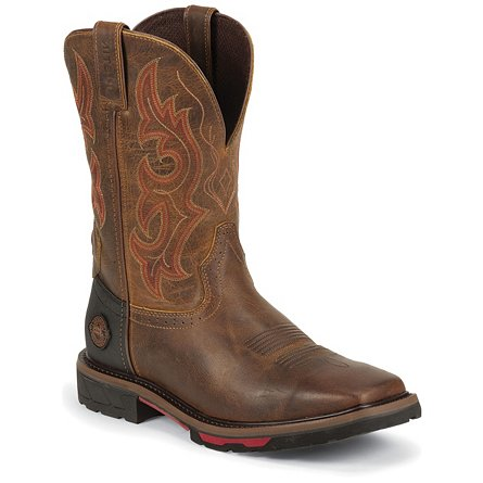 Justin Original Work Rugged Tan Square Toe