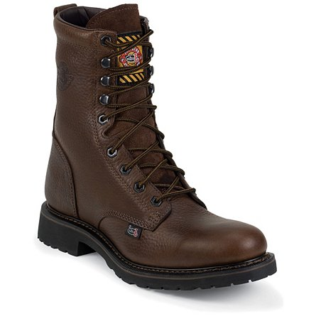 Justin Original Work Brown Trapper Cowhide Steel Toe