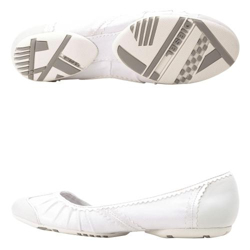 N.Y.L.A. Shoes Diesel Beat - White : Women's Diesel Slip-On Shoes