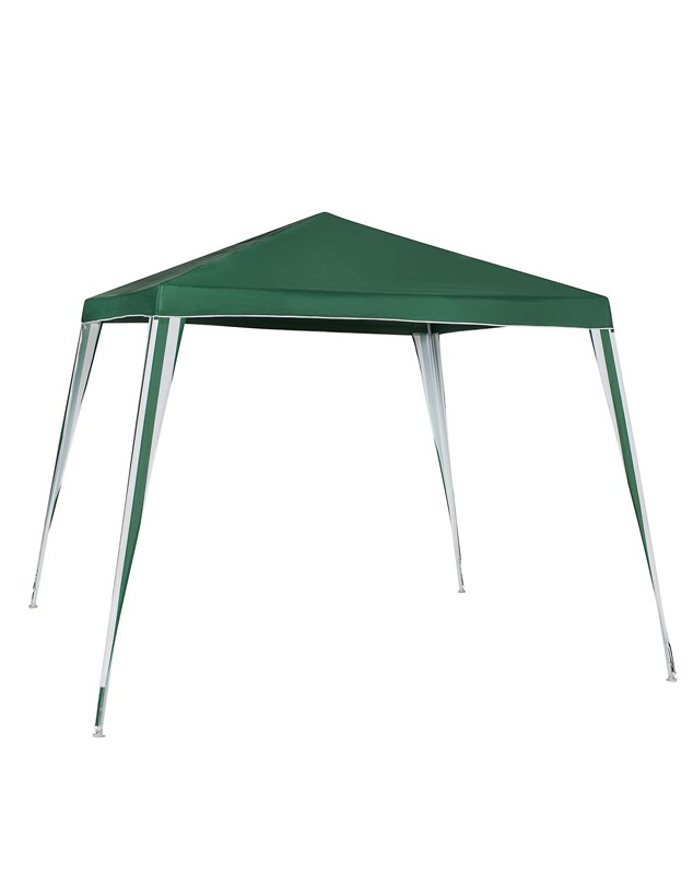 Gazebo Poliéster Verde 2,4x2,4m Montável Home Collection