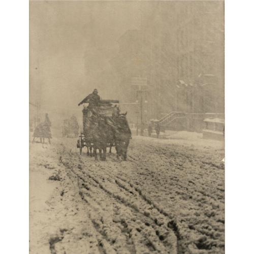 ALFRED STIEGLITZ, 1864-1946 WINTER - FIFTH AVENUE, 1893
