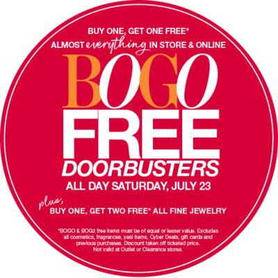 Bogo Free Doorbusters