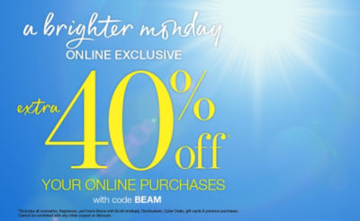 Shop 40off Brigher Monday
