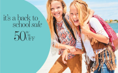 Shop 50off Back to School Sale