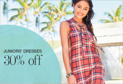 Shop Junior Dresses 30%off