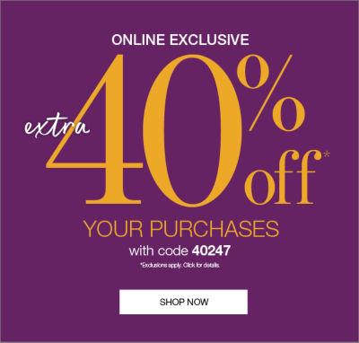 Shop 40offOnlneEvent