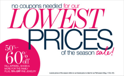 Shop Lowest Prices of the Season