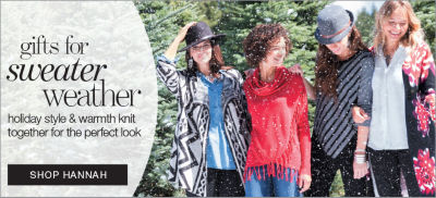 Hannah Women Sweaters great gift for the holidays
