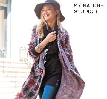 Women Signature Studio Long Poncho