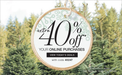 Shop 40% off online purchases