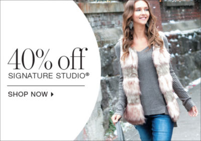 shop 40% off womens signature studio
