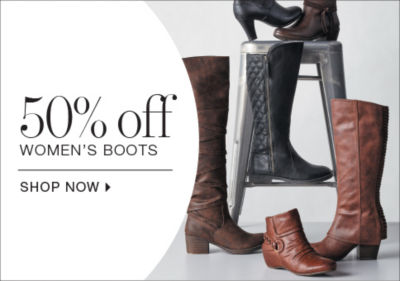 shop 50% off womens boots