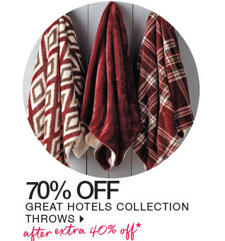 shop great hotels collection throws