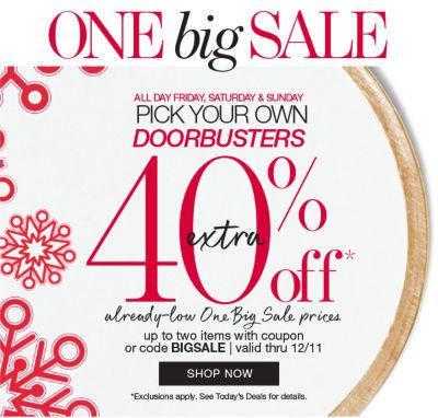 shop our one big sale