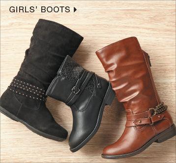 shop girls' boots