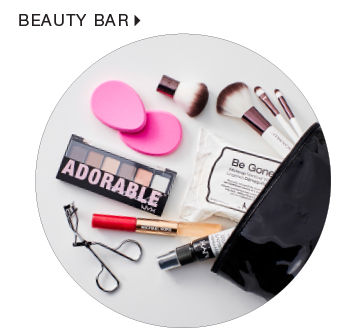 shop beauty bar including NYX cosmetics