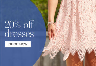 shop 20% off dresses