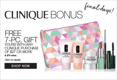 shop clinique free 7 piece gift with purchase