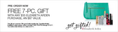 Pre-order now Elizabeth Arden gift with purchase